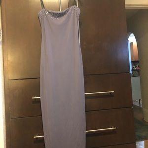 Laundry beaded lilac floor-length gown
